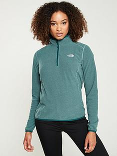 the-north-face-100-glacier-14-zip-greennbsp