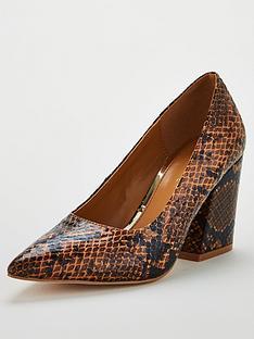 v-by-very-saskianbspblock-heel-court-shoe--nbspsnake