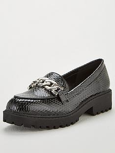 v-by-very-kristie-chunky-chain-trim-loafers-black