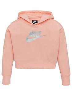 nike-girls-starry-night-crop-hoodie-coral