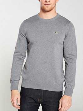 lacoste-sportswear-crew-knit-jumper-grey