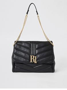 river-island-river-island-quilted-shoulder-bag-black