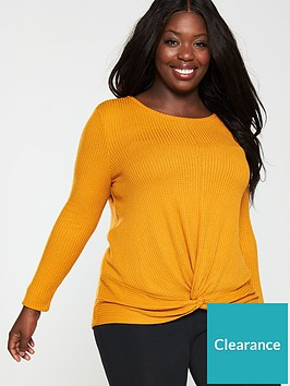 v-by-very-curve-twist-front-top-ochre