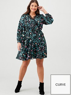 v-by-very-curve-lace-trim-printed-wrap-tea-dress-floral-print