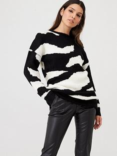 v-by-very-high-neck-zebra-longline-jumper-monochrome