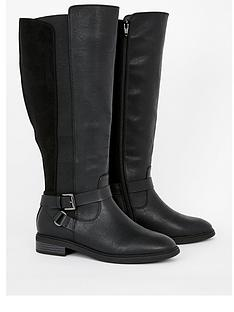 evans-extra-wide-fit-leore-knee-boot-black