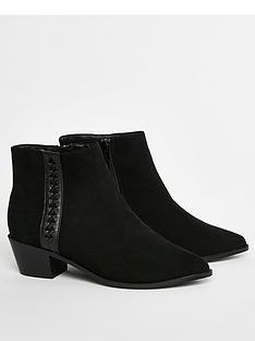 evans-extra-wide-fit-arrow-pointed-ankle-bootsnbsp-nbspblack