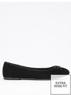 evans-extra-wide-fit-black-ballerina