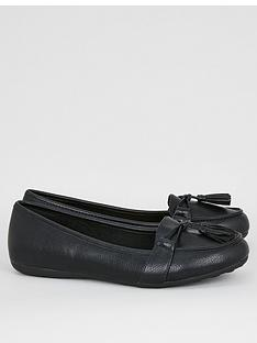 evans-extra-wide-fit-tassel-flat-loafersnbsp--black