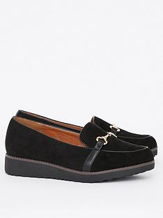 evans-extra-wide-fit-reece-loafers-black