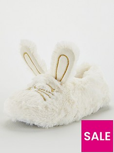 v-by-very-girls-bunny-slippers-cream