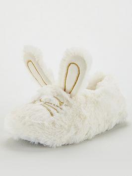 v-by-very-girls-bunny-slippers-cream