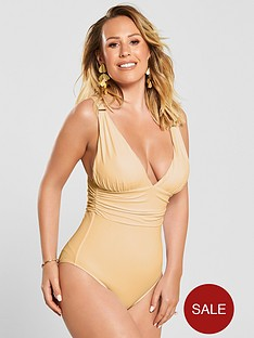 kate-wright-ruched-waist-high-leg-swimsuit-nude