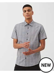 v-by-very-prince-of-wales-checked-shirt-grey