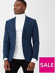 v-by-very-smart-herringbone-blazer-blue