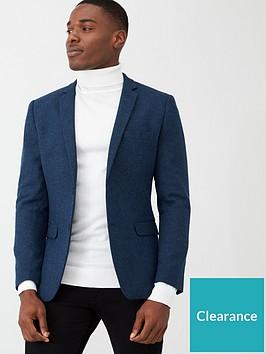 very-man-smart-herringbone-blazer-blue