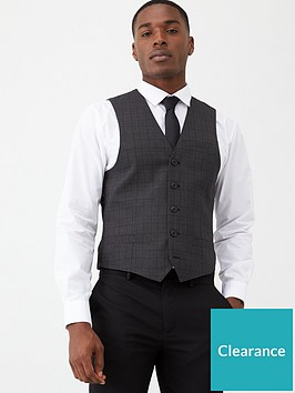 very-man-black-check-waistcoat-charcoal