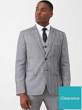 very-man-slim-suit-jacket-grey-check