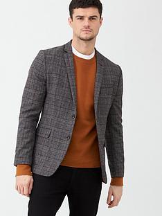 v-by-very-checked-blazer-grey
