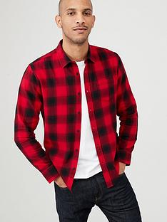 v-by-very-long-sleeved-check-shirt-redblack