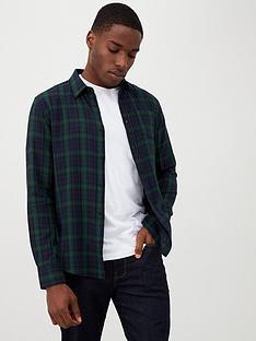 v-by-very-long-sleeved-black-watch-check-shirt