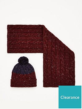 very-man-nep-hat-amp-scarf-set-burgundy