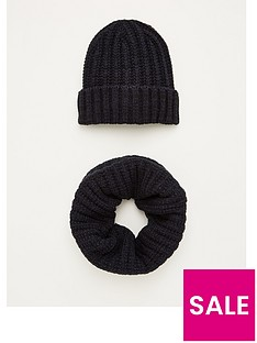 v-by-very-rib-scarf-amp-beanie-hat-navy