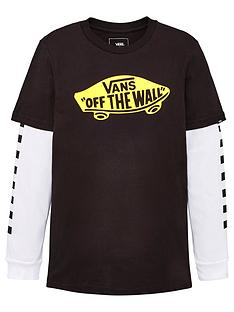 vans-off-the-wall-long-sleeve-check-top-blackyellow