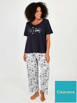 evans-let-it-snow-pyjama-set-navy