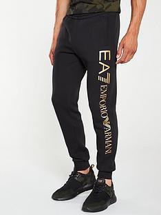 ea7-emporio-armani-logo-print-series-joggers-black