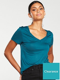 v-by-very-the-v-neck-tee-teal