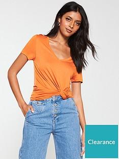 v-by-very-the-v-neck-tee-orange