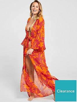 kate-wright-beach-maxi-kimono-floral-print