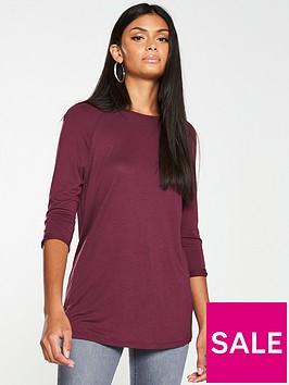 v-by-very-the-three-quarter-sleeve-raglan-tee-burgundy