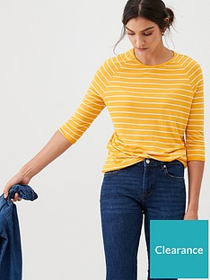 v-by-very-the-essential-three-quarter-sleeved-raglan-tee-stripe