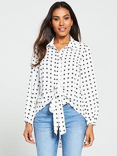 v-by-very-tie-front-longline-shirt-spotnbsp