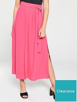 v-by-very-split-side-midi-skirt-pink