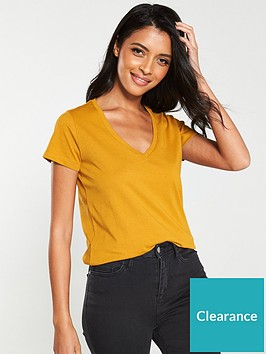 v-by-very-the-essential-basic-v-neck-t-shirt-mustard