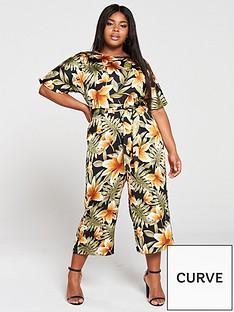 ax-paris-curve-floral-jumpsuit-multi