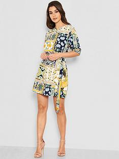 ax-paris-petite-printed-tie-waist-day-dress-multi