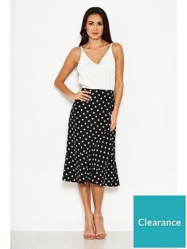 ax-paris-polka-dot-contrast-dress-creamblack