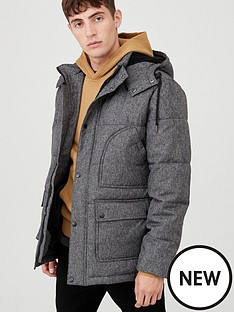 v-by-very-marl-padded-jacket-dark-grey