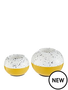 set-of-2-ochre-white-tealight-holders