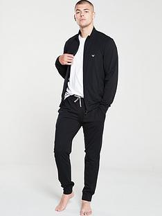 emporio-armani-bodywear-zip-through-sweater-pyjamas-black