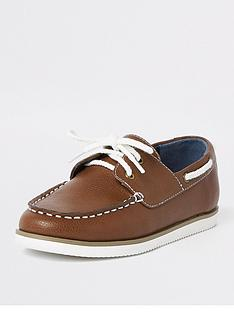 river-island-boys-tan-lace-up-boat-shoes