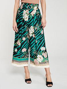 river-island-river-island-printed-wide-leg-trouser-green