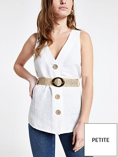 ri-petite-linen-belted-top--white