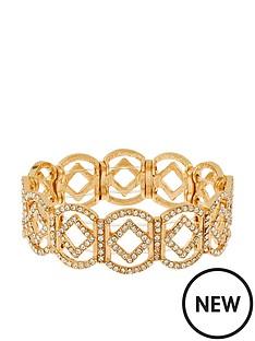 accessorize-pave-diamond-shaped-stretch-bracelet--nbspgold
