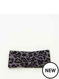 v-by-very-animal-print-knitted-headband-grey