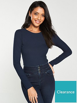 v-by-very-the-essential-ribbed-long-sleeve-top--nbspnavy